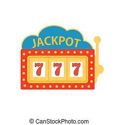 jackpot on a slot machine vector