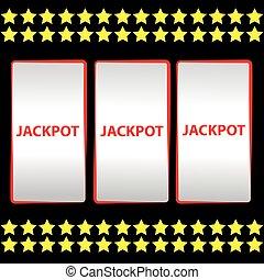 Jackpot on black background
