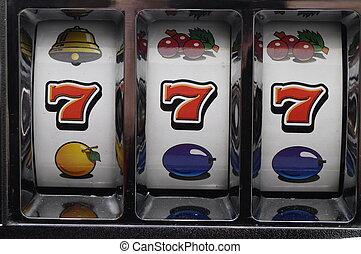 Jackpot on slot machine - Slot machine and jackpot three...