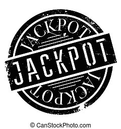 Jackpot rubber stamp