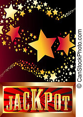 jackpot shooting stars vector illustration
