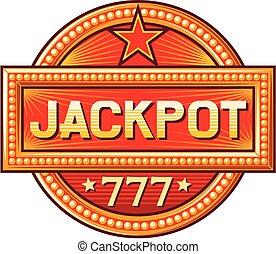 jackpot sign (jackpot label)
