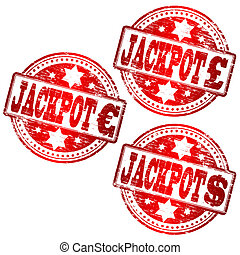 Jackpot Stamp - Pound, Euro and Dollar JACKPOT stamps