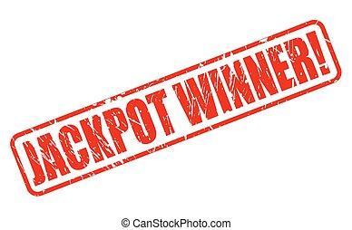 JACKPOT WINNER red stamp text
