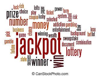 Jackpot word cloud