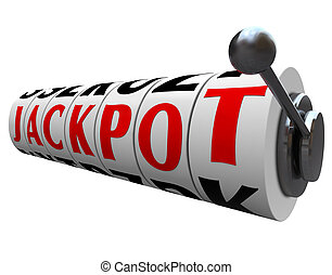 Jackpot Word Slot Machine Wheels Money Payout
