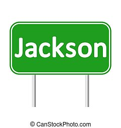 Jackson green road sign. - Jackson green road sign isolated...