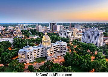 Jackson, Mississippi Skyline - Jackson, Mississippi, USA...