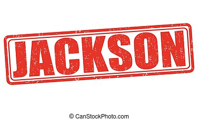 Jackson grunge rubber stamp on white background, vector illustration