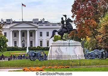 Jackson Statue Canons Lafayette Park White House Autumn Pennsylv