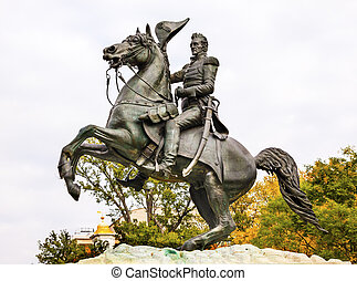 Jackson Statue Lafayette Park Autumn Pennsylvania Ave Washington