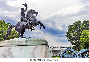 Jackson Statue Lafayette Park White House Washington DC