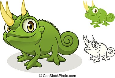 Jackson's Chameleon Cartoon Character Mascot Design