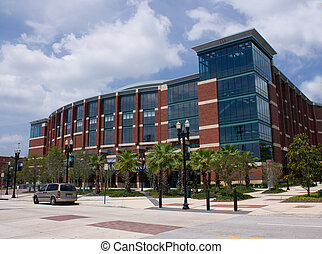 modern design arean in Jacksonville, Florida used for multiple venue events including, concerts, show, and basketball