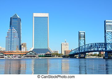 Famous Jacksonville, Florida scenic view of the city.