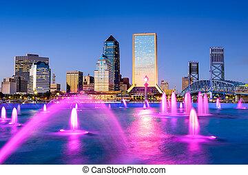 Jacksonville, Florida downtown skyline.