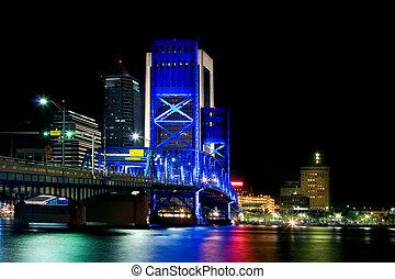 Main Street Bridge in Jacksonville Florida at Night
