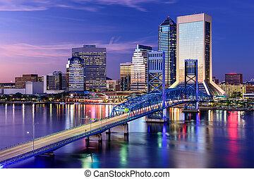 jacksonville, florida, skyline