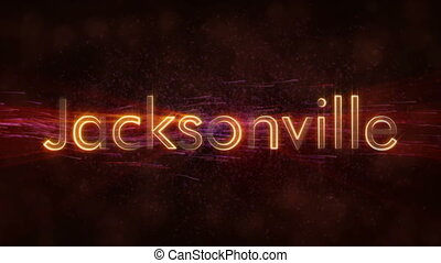 Jacksonville - Shiny looping city name text animation -...