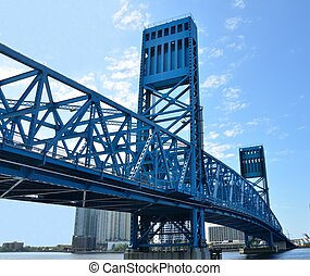 Jacksonville's Florida famous blue Main street bridge.