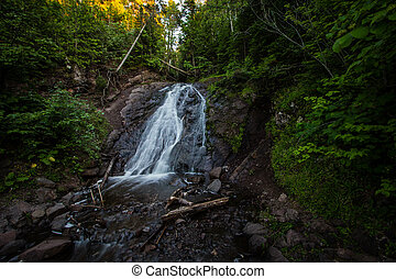 Jacob's Falls In Northern Michigan