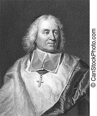 Bossuet - Jacques-Benigne Bossuet (1627-1704) on engraving...