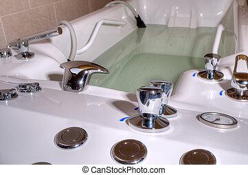 jacuzzi, ásványvízforrás, fürdőkád