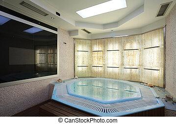 Moderno simple hotel interior jacuzzi style im genes for Jacuzzi interior precios