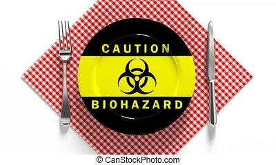 jadło, coronavirus, contamination., skażony, jadło., ...