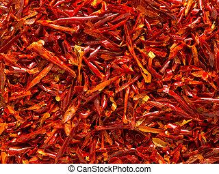 jadło, do góry, łuski, zasuszony, tło, zamknięcie, chili, czerwony