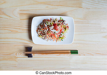 jadło, drewno, closeup, yum, mama, stół