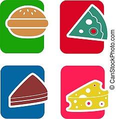jadło, ikona, komplet