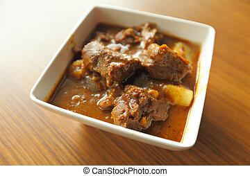 jadło, indianin, curry