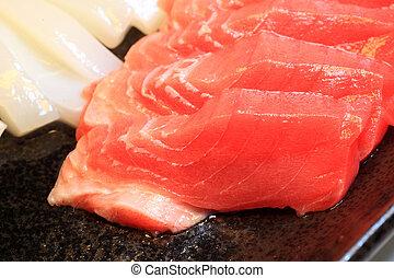 jadło, japonia, tuńczyk, sashimi