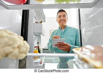 jadło, konieczny, dom zrobienie, człowiek, spis, lodówka