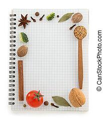 jadło, książka, recepta, składniki