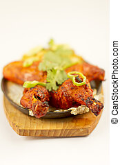 jadło, kurczak, indianin, tandori
