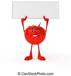 jadło, litera, -, pomidor