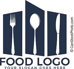 jadło, logo, wektor, projektować, template.