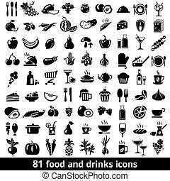 jadło, pije, ikony