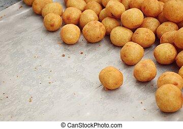 jadło, słodki, ulica, dosmażany kartofel