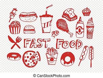 jadło, symbolika, wektor, mocny, ikony