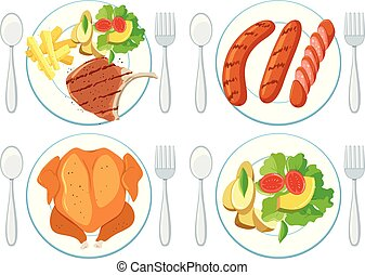 jadło, zdrowy, komplet