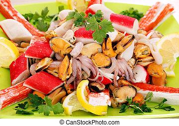 jadło, zdrowy, morze, płyta