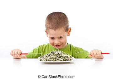 jadło, zielony, zdrowy