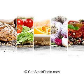 jadło, zmieszać, składniki