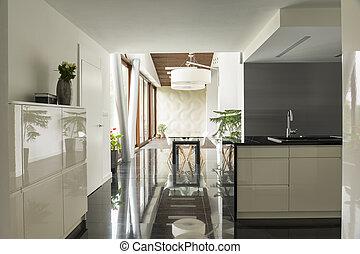 Okno Prospekt Kuchni Pokój Luksus Pokój Veiw Okno