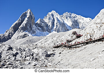 Jade Dragon Snow Mountain in Lijiang, Yunnan, China