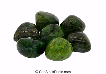 Jade gemstone - Set of a beautiful Jade tumbled gemstone ...
