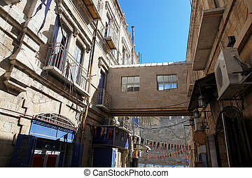 Jaffa Gate district in The old City in Jerusalem, Israel